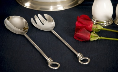 Knot Salald Fork & Spoon Set