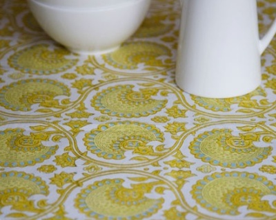 Bungalow India Yellow Tablecloth