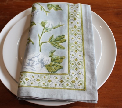 Bordeaux Blue & Green Napkin