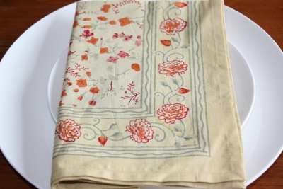 Bordeaux Yellow Floral Napkin