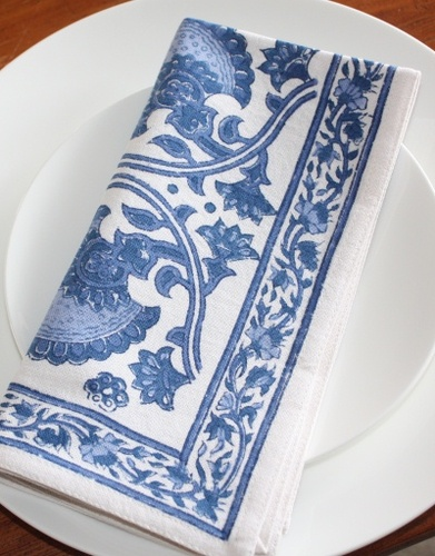 Bungalow India Blue Napkin