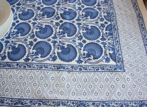 Bungalow India Blue Tablecloth