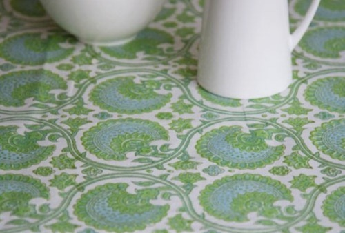 Bungalow India Green Tablecloth