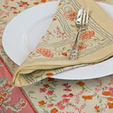 Bordeaux Yellow Floral Tablecloth