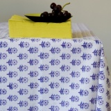 Bungalow Nalini Blue Tablecloth