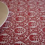 Bungalow Dahlia Red Tablecloth